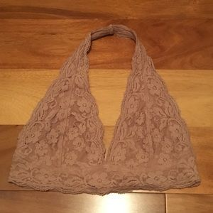 UO Out From Under Halter Bralette - Tan